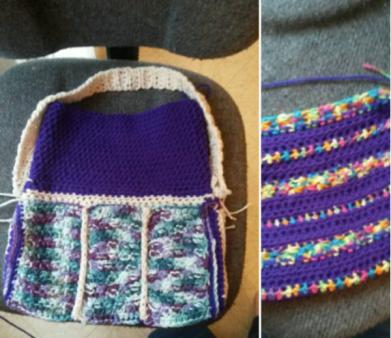 CrochetedBookbag-PurseandKidsConfettiStripedPurse